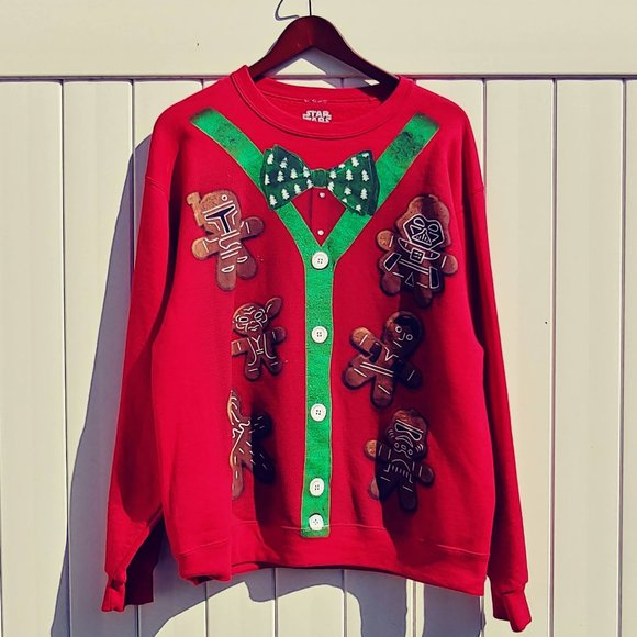 EUC Star Wars Ugly Christmas Sweatshirt Men's L
